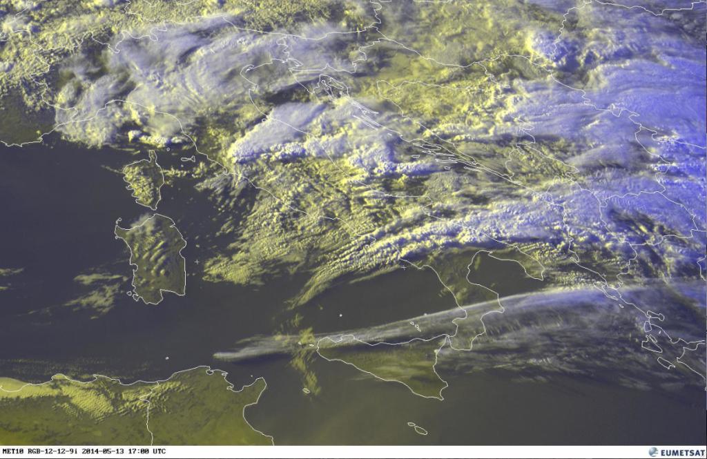 Satellitenfoto Sardinien