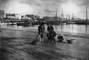 Der Hafen von Cagliari im Jahr 1905 - aufgenommen vom Münchner Sprachforscher Max Leopold Wagner.